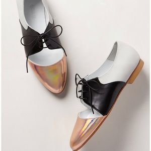 Emma Go Casey holographic cutout oxfords size 40